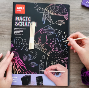 Apli Kids MAGIC SCRATCH A4 wydrapywanka